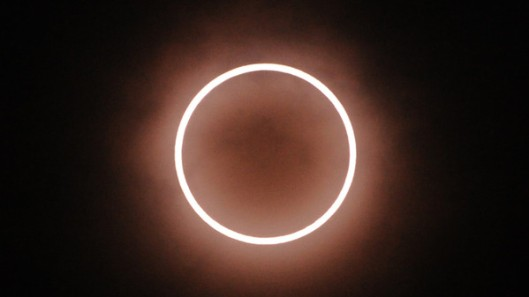 An annular solar eclipse is seen from To
